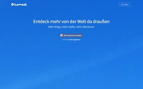 Screenshot of Home Page komoot.de - komoot – Plane deine Fahrradtour oder Wanderung - captured Sept. 16, 2014