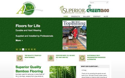 Screenshot of Home Page bamboofloorsa.co.za - Superior Quality Bamboo Flooring   Alco Exotic - captured Sept. 18, 2015