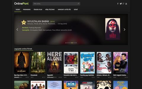 Screenshot of Home Page online-pont.online - Online  Filmek, Film Letöltés - Onlinepont - captured May 4, 2017