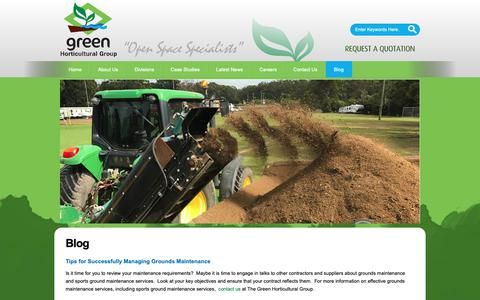 Screenshot of Blog greenhorticulture.com.au - Contact Us GHG - captured Sept. 30, 2018