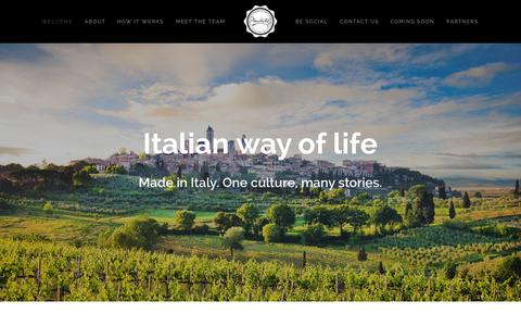 Screenshot of Home Page About Page Contact Page madeetaly.com - Madeetaly - Italian Way Of Life - captured Sept. 30, 2014