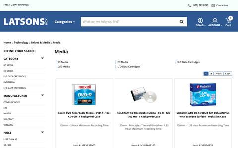 Screenshot of Press Page latsons.com - Media - Latsons Office Solutions Inc - captured Sept. 27, 2018