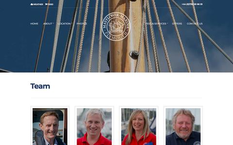 Screenshot of Team Page mayflowermarina.co.uk - Mayflower Marina | Marina Plymouth | Marina South West | 5 Gold Anchor Marina - captured Sept. 20, 2018