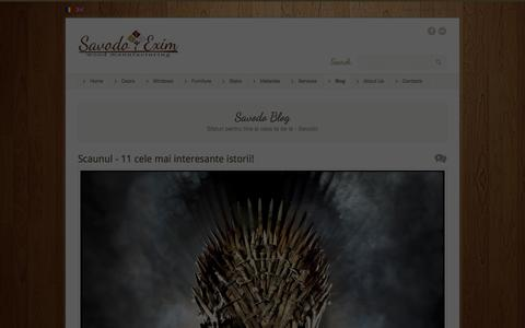 Screenshot of Blog savodo.md - Blog Savodo | Savodo - captured Sept. 26, 2014