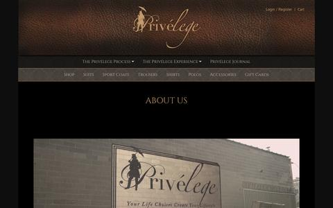 Screenshot of About Page theprivelege.com - About Privelege - captured Feb. 1, 2016