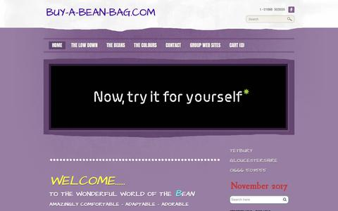 Screenshot of Home Page buy-a-bean-bag.com - buy-a-bean-bag.com - Bean bags - captured Feb. 1, 2018