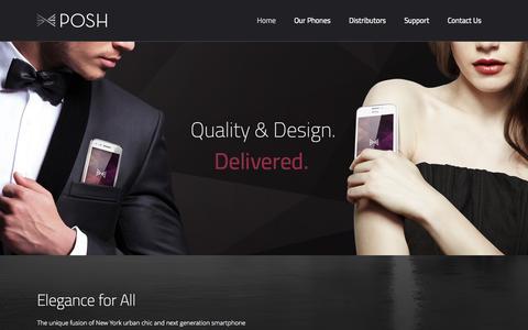 Screenshot of Home Page poshmobile.com - Posh Mobile | Elegant and affordable mobile devices | Posh Mobile - captured Sept. 30, 2014