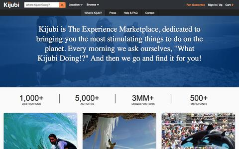 Screenshot of About Page kijubi.com - About Us -Kijubi - Kijubi.com - captured Sept. 12, 2014