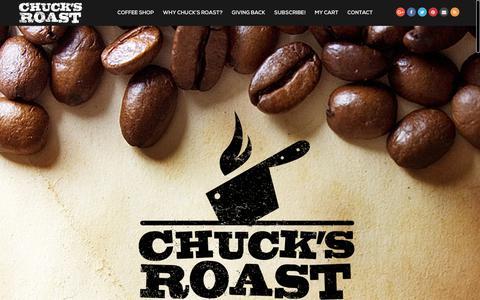Screenshot of Home Page chucksroast.com - Chuck's Roast Coffee - captured Nov. 4, 2018