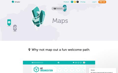 Screenshot of Maps & Directions Page whaller.com - Whaller says… - captured July 2, 2018