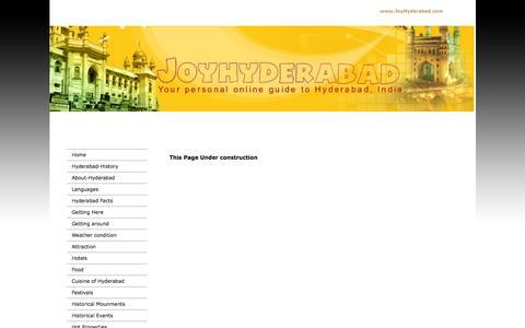 Screenshot of Site Map Page joyhyderabad.com - joyhyderabad.com - Site map - captured Oct. 6, 2014