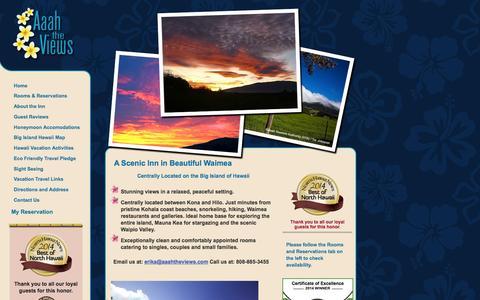 Screenshot of Home Page aaahtheviews.com - Hawaii Big Island  Inn   Aaah The Views Inn, Waimea - Kamuela Hawaii - captured Feb. 5, 2016