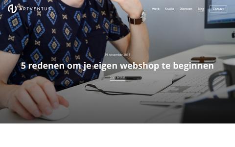 Screenshot of Blog artventus.nl - Blog - Artventus - captured Dec. 26, 2015