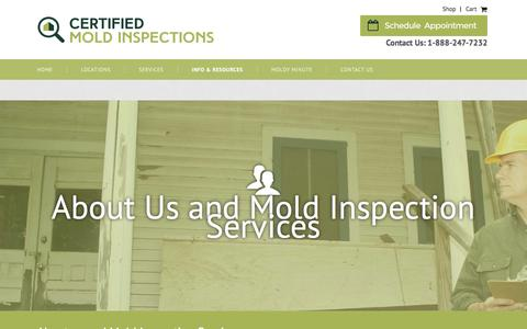 Screenshot of Locations Page findingthemold.com - Mold Inspections | CMI Certified Mold Inspections - captured Jan. 27, 2016