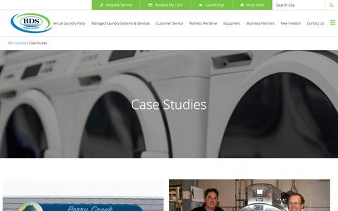 Screenshot of Case Studies Page bdslaundry.com - Case Studies | BDS Laundry Systems - captured Oct. 9, 2017