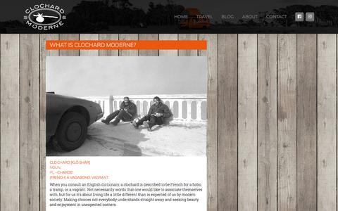 Screenshot of About Page fddr.nl - About - Clochard Moderne - captured July 19, 2018