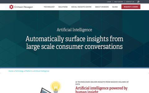 Artificial Intelligence | Crimson Hexagon