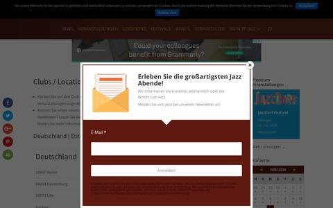 Screenshot of Locations Page treffpunkt-jazz.de - Treffpunkt Jazz | Clubs / Locations - captured June 13, 2018