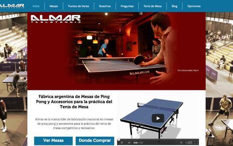 Screenshot of Home Page almartt.com - Almar Tenis de Mesa - Mesas de Ping Pong - captured Oct. 4, 2014