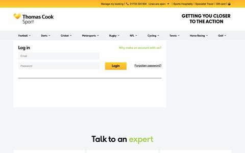 Screenshot of Login Page thomascooksport.com - Thomas Cook Sport - My Account Login - Thomas Cook Sport - captured Sept. 30, 2017