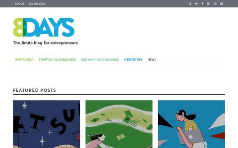 Screenshot of Blog jimdo.com - Small Business Marketing and Web Design Tips - Jimdo Blog - captured June 3, 2017