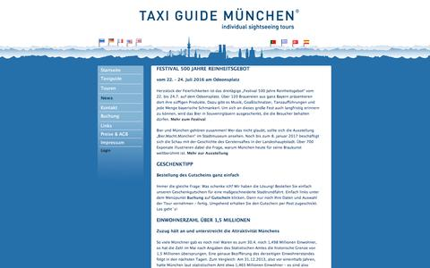 Screenshot of Press Page taxi-guide-muenchen.de - Taxi Guide München | News - captured June 9, 2016