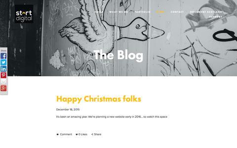 Screenshot of Blog startdigitalpublishing.com - Start Digital Publishing-Blog - captured Feb. 16, 2016