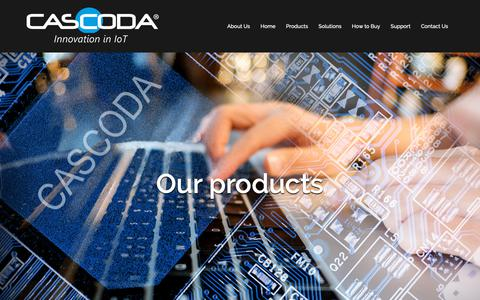 Screenshot of Products Page cascoda.com - Products – Cascoda - captured Nov. 10, 2018
