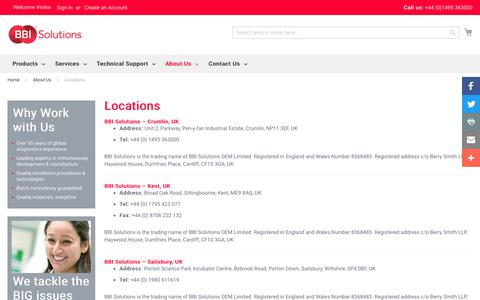 Screenshot of Locations Page bbisolutions.com - Locations - About Us | BBI Solutions - captured Feb. 6, 2020