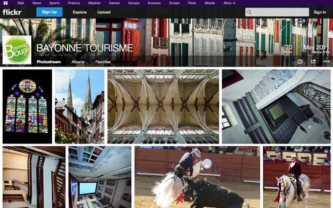 Screenshot of Flickr Page flickr.com - Flickr: BAYONNE TOURISME's Photostream - captured Nov. 3, 2014