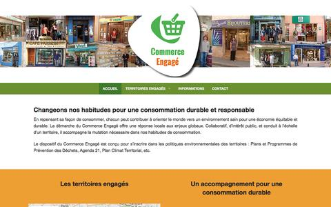 Screenshot of Home Page commerce-engage.com - Accueil - Commerce Engagé - captured Dec. 30, 2016