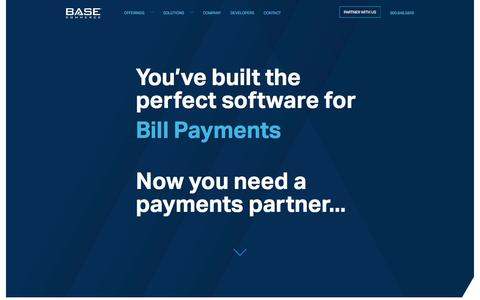 Screenshot of Home Page basecommerce.com - Base Commerce – Leaders In Payment Processing - captured May 27, 2017