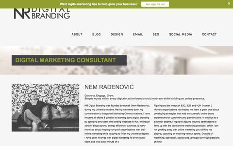 Screenshot of About Page nrdigitalbranding.com - Digital Marketing Consultant - Kitchener-Waterloo - captured June 15, 2017