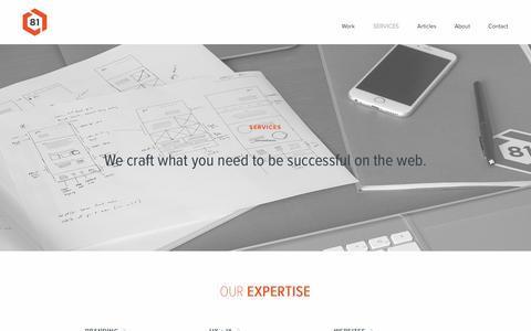 Screenshot of Services Page block81.com - Our Services | Web Design, Branding, Digital Marketing | Block 81, PDX - captured July 29, 2016