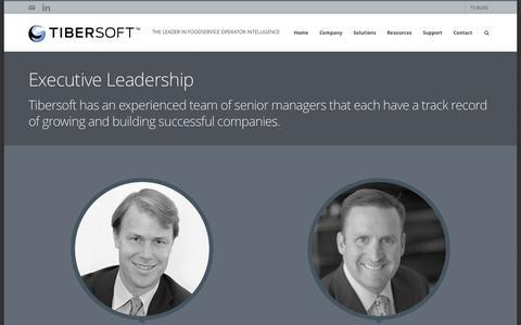 Screenshot of Team Page tibersoft.com - Executive Leadership - Tibersoft Corporation - captured July 15, 2015