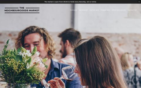 Screenshot of Blog neighbourgoodsmarket.co.za - Features — THE NEIGHBOURGOODS MARKET - captured Nov. 2, 2017