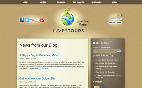 Screenshot of Blog investours.org - News From Our Blog | Investours - captured Oct. 6, 2014