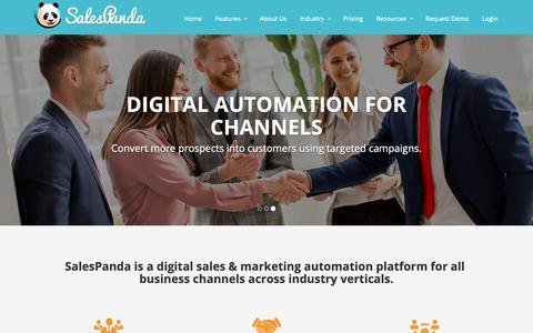 Screenshot of Home Page salespanda.com - Inbound Marketing Software | Automate Content Marketing - SalesPanda - captured Nov. 6, 2018