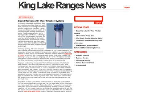 Screenshot of Home Page kinglakerangesnews.com.au - King Lake Ranges News - captured Sept. 30, 2014