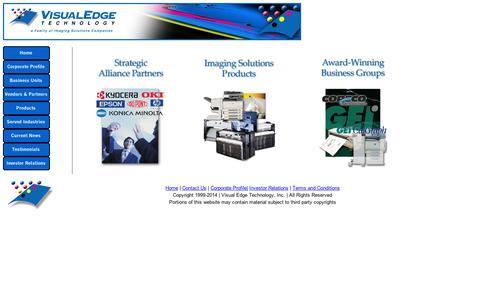 Screenshot of Home Page visualedgetechnology.com - Visual Edge Technology - captured Sept. 11, 2014