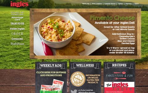 Screenshot of Home Page ingles-markets.com - Ingles Markets - Grocery Stores, Supermarkets, Pharmacies - Home - captured Sept. 19, 2014