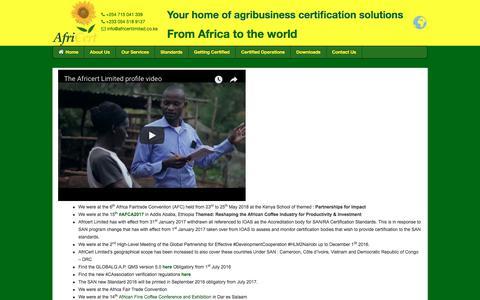 Screenshot of Press Page africertlimited.co.ke - News - agribusiness certification company in kenya,AfriCert Ltd - captured July 29, 2018