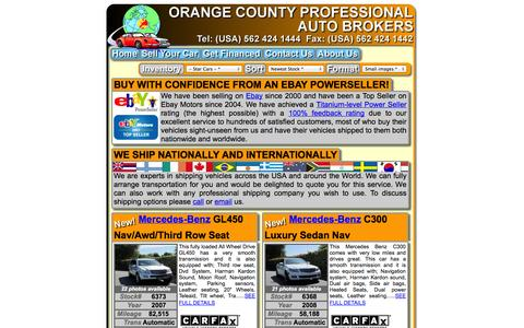 Screenshot of Home Page ocpabi.com - SSS Welcome to Orange County Professional Auto Brokers - captured Oct. 6, 2014