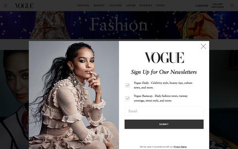Fashion News and Trends: Designers, Models, Style Guides - Vogue - Vogue