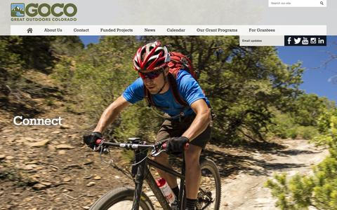 Screenshot of Home Page goco.org - Great Outdoors Colorado - captured Feb. 2, 2016