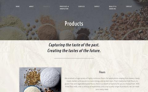 Screenshot of Products Page edme.com - Products – EDME - captured Nov. 9, 2018