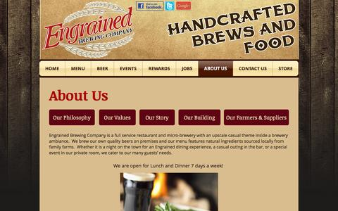 Screenshot of About Page engrainedbrewing.com - About Us - captured Nov. 8, 2016