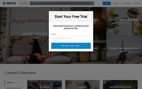 Screenshot of Trial Page twenty20.com - Twenty20 | Authentic, Real-World Stock Photos - captured April 9, 2018