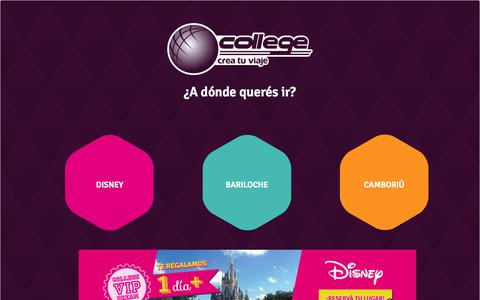 Screenshot of Home Page college.com.uy - College - viajes a bariloche , disney, brasil - captured Sept. 30, 2014