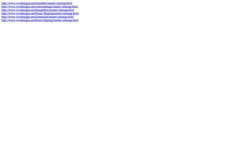 Screenshot of Site Map Page vivodesigns.net captured Oct. 26, 2014